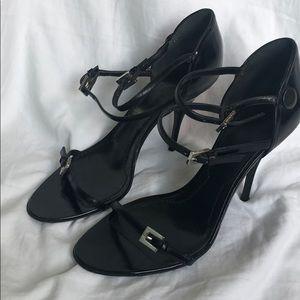 Vintage GIVENCHY black strappy heels